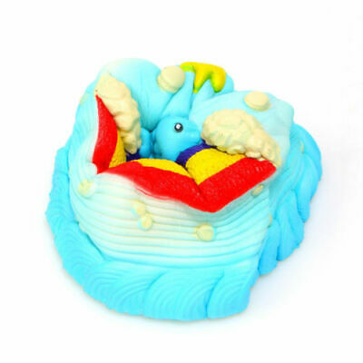 AU14.56 • Buy Ocean Cake Stress Toys Jumbo Squishy Relief Toy Rising Slow Squeeze Kids Gift