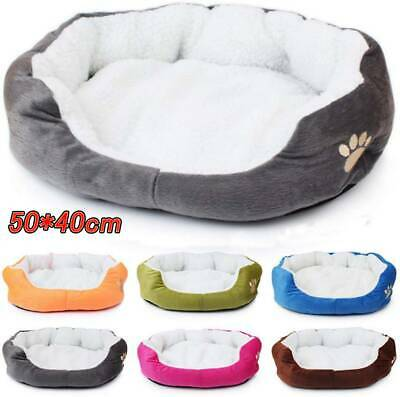 £8.49 • Buy Pet Dog Winter Warm Soft Dog Cat Bed Puppy Mat House Washable Kennel Pet Cushion