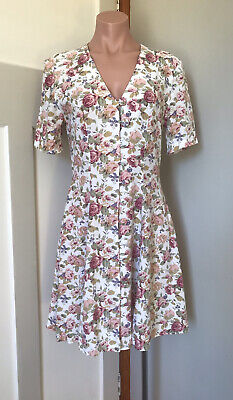 AU45 • Buy Syndicate Clothing Co Soft Spring Floral Dress Button Front Size 10