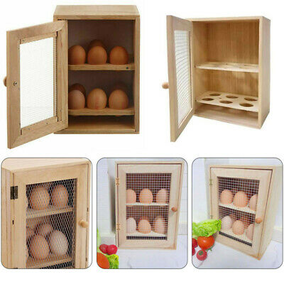 £6.54 • Buy Kitchen Wooden Egg Holder 2 Tier Rack 12 Storage Boxes Container Cupboard House