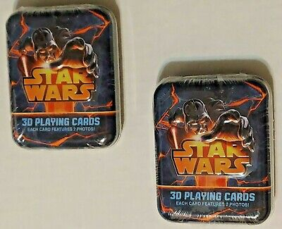£10.88 • Buy 2 SEALED Star Wars Lenticular 3D Playing Cards In Tin Darth Vader Yoda Grievous