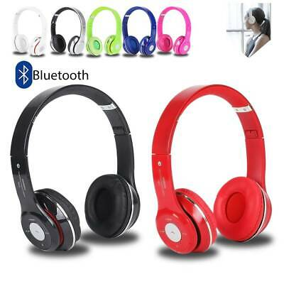 £11.49 • Buy Wireless Headphones Bluetooth Headset Noise Cancelling Over Ear With Microphone