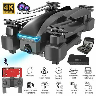 AU85.39 • Buy Drone With 5G WIFI FPV 4K HD ECS Camera Brushless RC Double GPS Drone Quadcopter