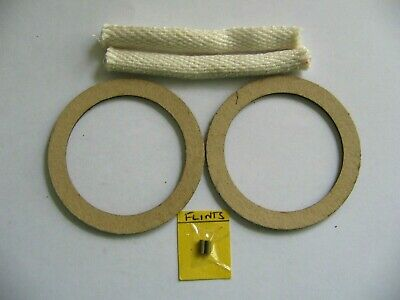 £5.50 • Buy REPLACEMENT MINERS LAMP PARTS-GASKETS-(58MM)+ROUND WICKS & FLINTS COLLIERY -c-