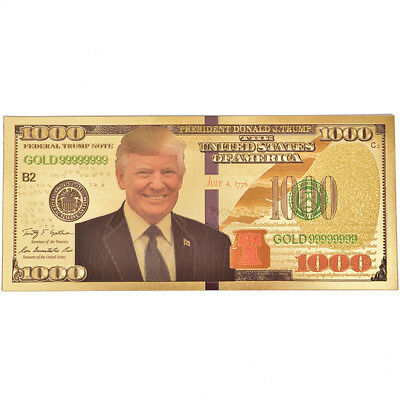 AU2.29 • Buy US President Donald Trump Gold Foil Paper Moeny Non Currency Collection Gifts.S2