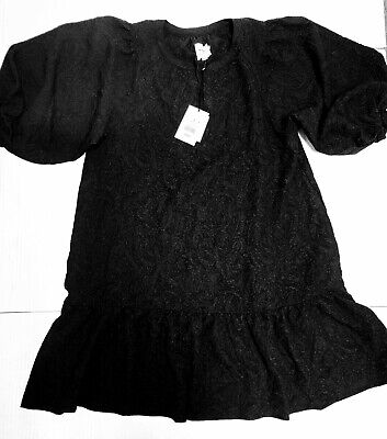 AU26.43 • Buy The Nines By Hatch Maternity Target Black Puff Sleeve Dress Size S