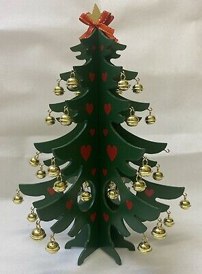 £7.99 • Buy Wooden Table Top Christmas Tree With Bells