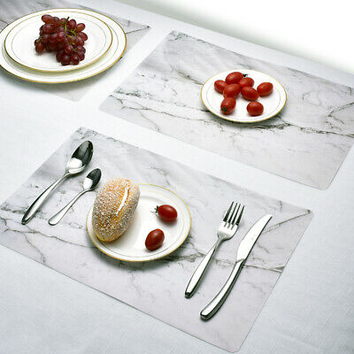 AU25.99 • Buy 2/4/8/10x Place Mat Coaster Dining Table Placemat Non-Slip Oilproof Washable Pad