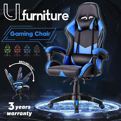 AU119.90 • Buy Gaming Chair Racing Executive Office Chair PU Leather Ergonomic Recliner Chair