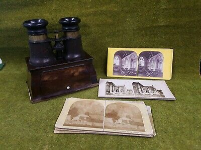 £185.55 • Buy Antique Hand Held Stereoscopic Viewer With Cards