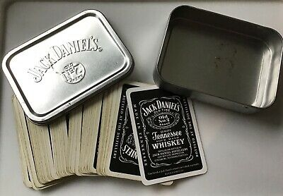 £2.50 • Buy JACK DANIEL'S TENNESSEE WHISKEY PLAYING CARDS IN A STEEL TOBACCO TIN - Pre Loved
