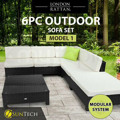 AU759 • Buy 【EXTRA10%OFF】 6pc Outdoor Lounge Wicker Furniture Setting Patio Sofa Set