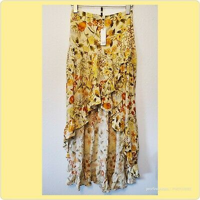 AU269.36 • Buy NWT Spell And The Gypsy Collective Sayulita Frill Split Skirt In Sunflower XS