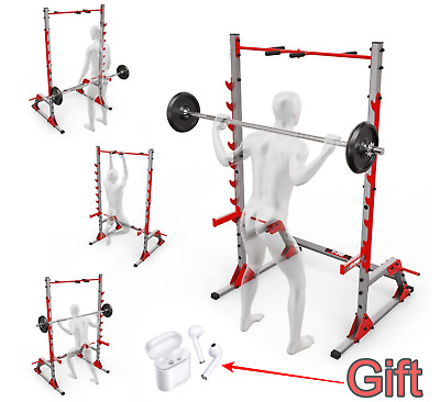 £429 • Buy PRO Power Cage Squat Rack & Pull Up Bar Multi Gym Weight Lifting Stand Home Gym