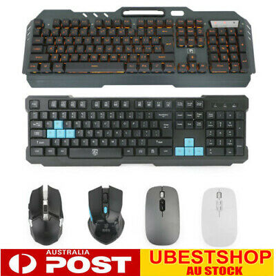AU57.99 • Buy Backlit Wireless Gaming Keyboard + Rechargeable Wireless Mouse DPI Control Sets