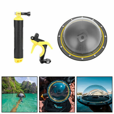 AU70.99 • Buy TELESIN Dive Underwater Dome Port Photography Lens Cover For GoPro Hero 5 6 7 U3