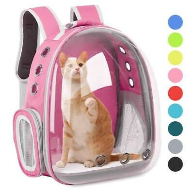 £22.99 • Buy Pet Carrier Backpack Travel Space Capsule Puppy Dog Cat Bag Breathable Astronaut
