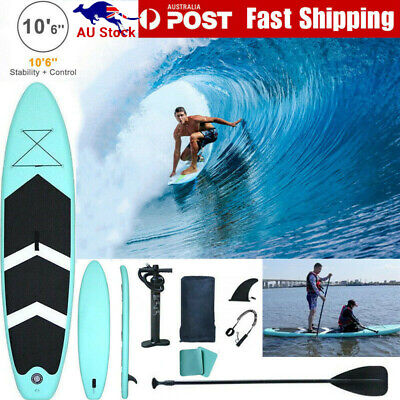 AU275.49 • Buy 10'6  Inflatable SUP Stand Up Paddle Board Surfboard Kayak Surf Paddleboard Long