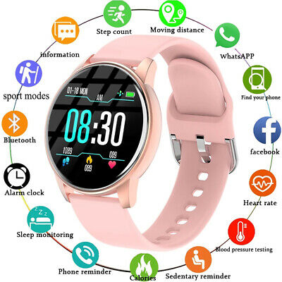 AU36.59 • Buy Smart Watch Bluetooth Heart Rate Blood Pressure Monitor Fitness Tracker Sports