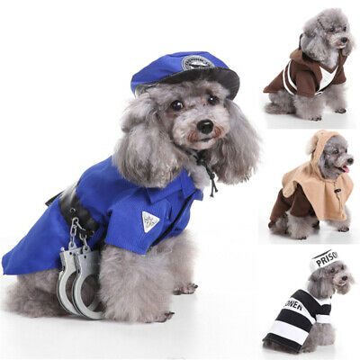 £7.97 • Buy Pet Dog Cat Halloween Cosplay Costumes Outfit Funny Christmas Clothes Suit UK