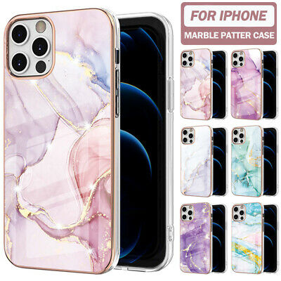 AU12.99 • Buy For IPhone 13 12 11 Pro Max XR XS 8 7 SE Plus Case Marble Shockproof Thin Cove