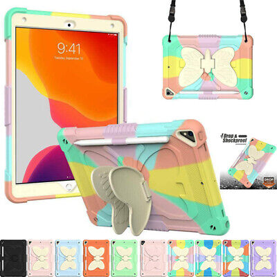 AU28.69 • Buy For IPad 5 6 7 8 9th Gen Air Pro 9.7 10.5 Kids Shockproof Strap Stand Case Cover