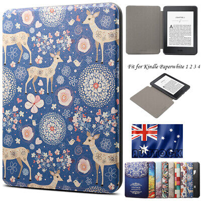 AU13.59 • Buy For 6  Amazon Kindle Paperwhite 1 2 3 4 10th Gen Leather Stand Case Cover Smart