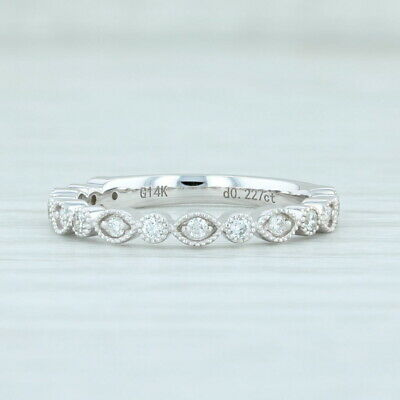 AU673.43 • Buy New 0.22ctw Diamond Ring 14k White Gold 6 Stackable Wedding Anniversary Band