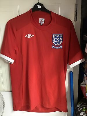 £29.99 • Buy 2010 England Umbro 'South Africa' World Cup Away Football Shirt Large L 44  Red
