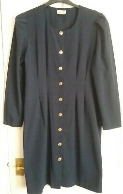£4 • Buy BHS - Vintage Navy With Gold Button Front Size 16