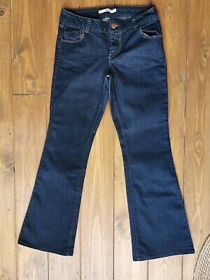 £2.99 • Buy Dorothy Perkins Deep Blue Flared Boot Cut Jeans UK 10S Worn Once!