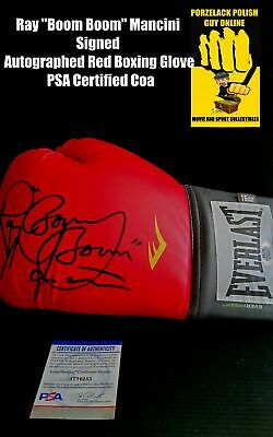 AU260 • Buy Ray  Boom Boom  Mancini Signed Autographed Red Boxing Glove PSA Certified Coa