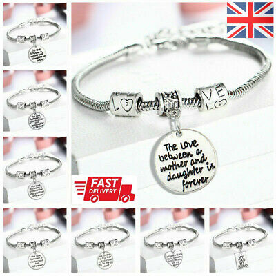 £1.95 • Buy Personalised Gifts For Mother Mum Nanny Auntie Sister Godmother Charm Bracelet