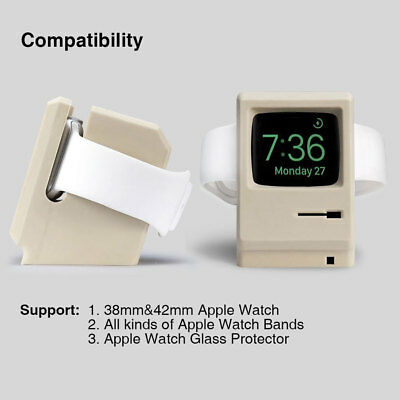 AU13.99 • Buy Silicone Charging Dock Stand Holder Cradle Station Mac For Apple Watch IWatch