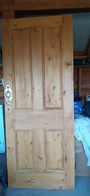 £65 • Buy Lovely Pine Door Heavy Stripped And Oiled. 82cm W X 202cm H
