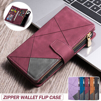 AU21.99 • Buy For Samsung Galaxy Z Fold 3 Case Leather Magnetic Wallet Flip Zipper Cover