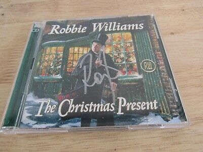 AU14.70 • Buy SIGNED Robbie Williams - The Christmas Present - Double CD 2019 (Hospiscare)