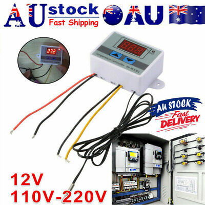 AU9.99 • Buy Digital Temperature Thermostat XH-W3001 Controller 12V Heating Cooling LCD