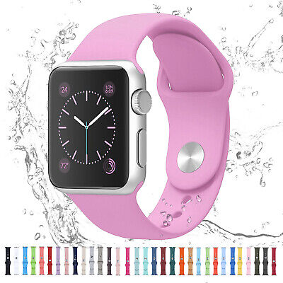 AU11.23 • Buy For Apple Watch IWatch Series 6 SE 5 4 3 38/40/42/44mm Silicone Sport Strap Band