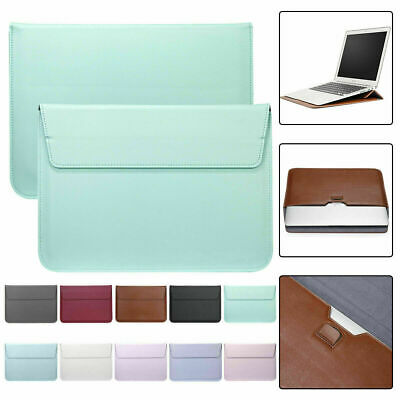 AU16.69 • Buy Leather Laptop Sleeve Bag Pouch Case Cover For MacBook Air 11 13 Pro 15 Retina