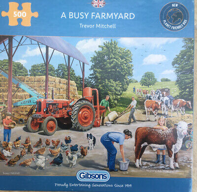"""£7.10 • Buy Gibsons""""A Busy Farmyard"""" 500 Piece Jigsaw Puzzle Complete"""