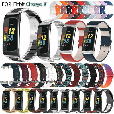 AU19.99 • Buy For Fitbit Charge 5 Smartwatch Stainless Steel/Leather/Nylon/Silicone Strap Band