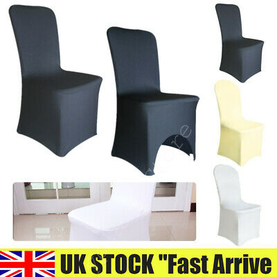 £86.99 • Buy 1-100 Spandex Chair Covers Slip SEAT Cover Wedding Dining Room Stretch Removable