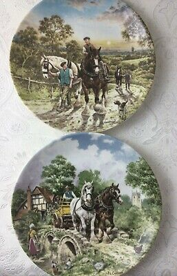 £5.99 • Buy Wedgwood Life On The Farm 2 Decorative Plates 'Off To Work' 'End Of The Day'Y582