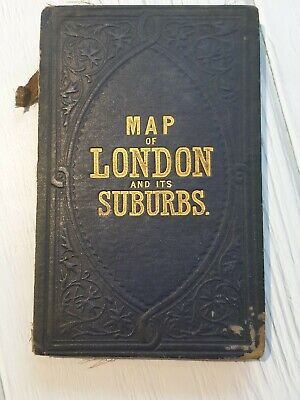 £39.99 • Buy REYNOLDS NEW MAP OF LONDON And It's Suburbs 1883 HB Cloth Bound Map