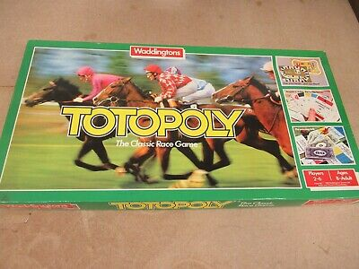 £15 • Buy 1983 Waddingtons Board Game Totopoly Horse Racing Game Complete