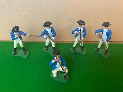 £37 • Buy Vintage Britains Swoppet AWI American Infantry Toy Soldiers X 5 Lot 1960's