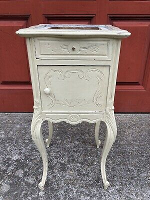 £50 • Buy Antique French Hand-painted Pot Cupboard Bedside Table