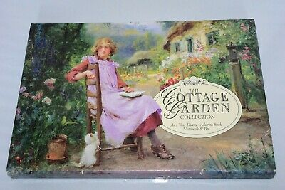 £6.99 • Buy The Cottage Garden Collection Any Year Diary, Address Book, Notebook & Pen