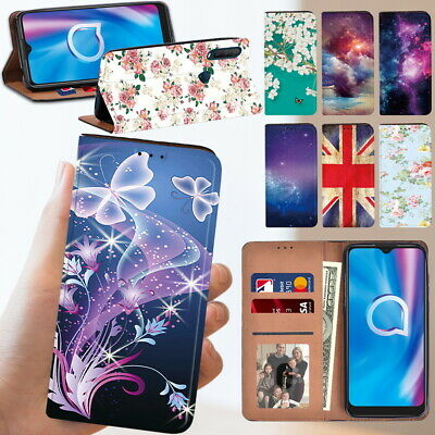 £3.99 • Buy PU Leather Stand Wallet Phone Cover Case Fit Alcatel 1C 1S 1V 3L 2020 Cellphone